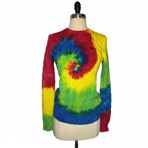 Polo Ralph Lauren Tie Dye Cable-knit Sweater